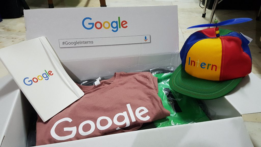 Google Swag Box Intern