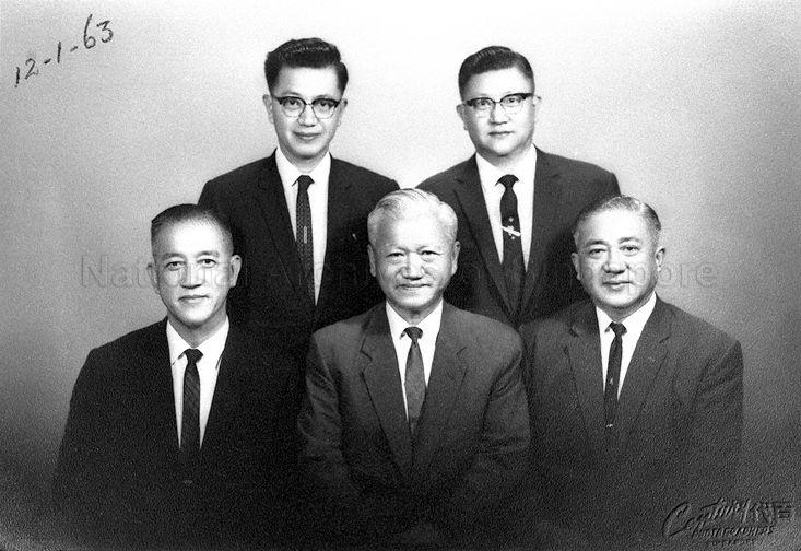 The five brothers of Yeo Hiap Seng company