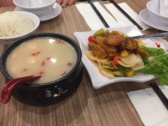 Soup, Sweet and Sour Fish