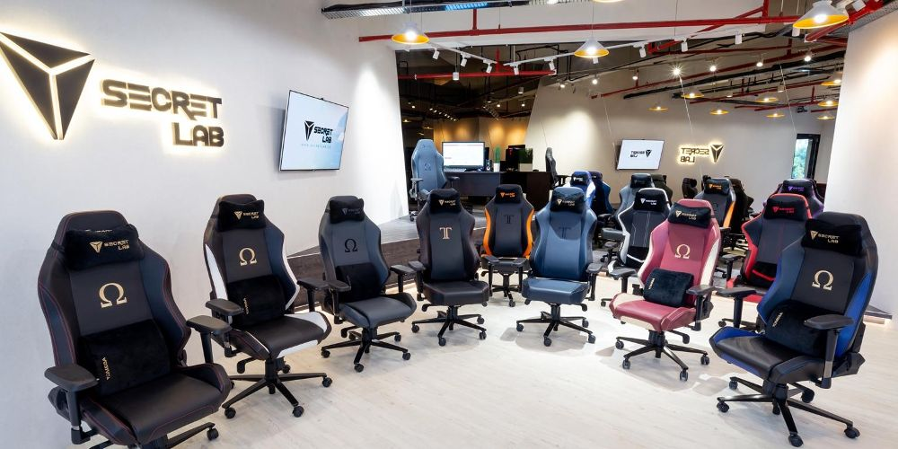 A range of some Secretlab chairs