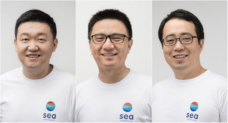 forrest li, gang ye, david chen, founders of sea