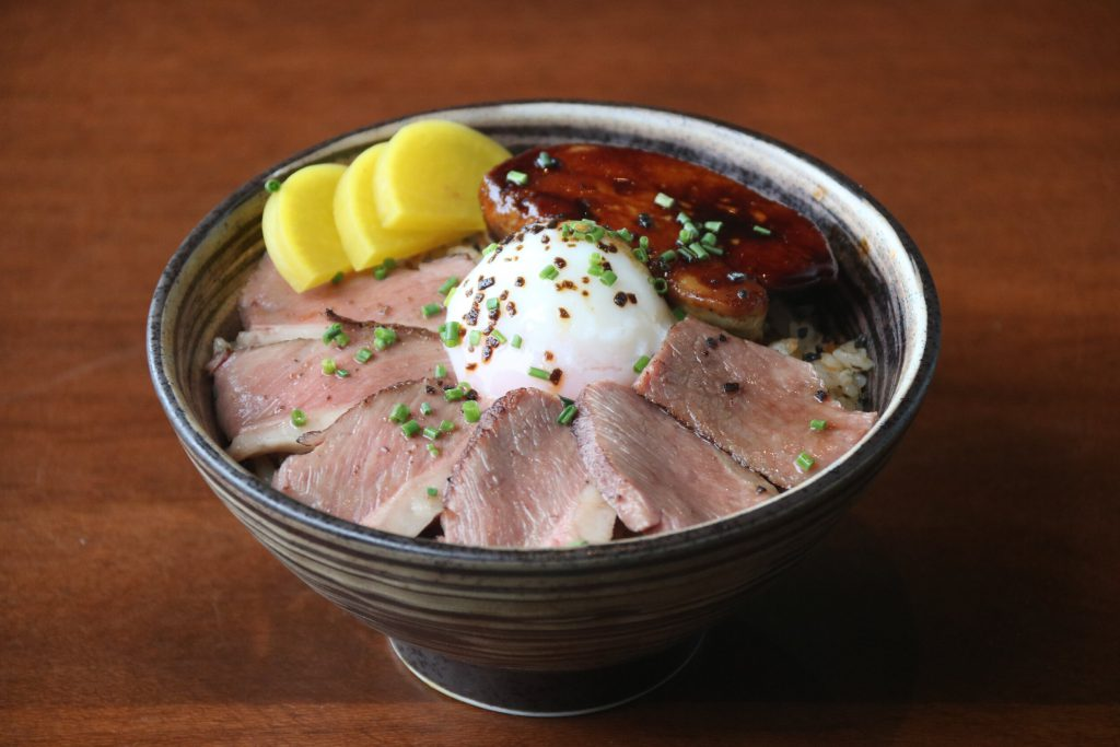 Modern Japanese inspired donburi