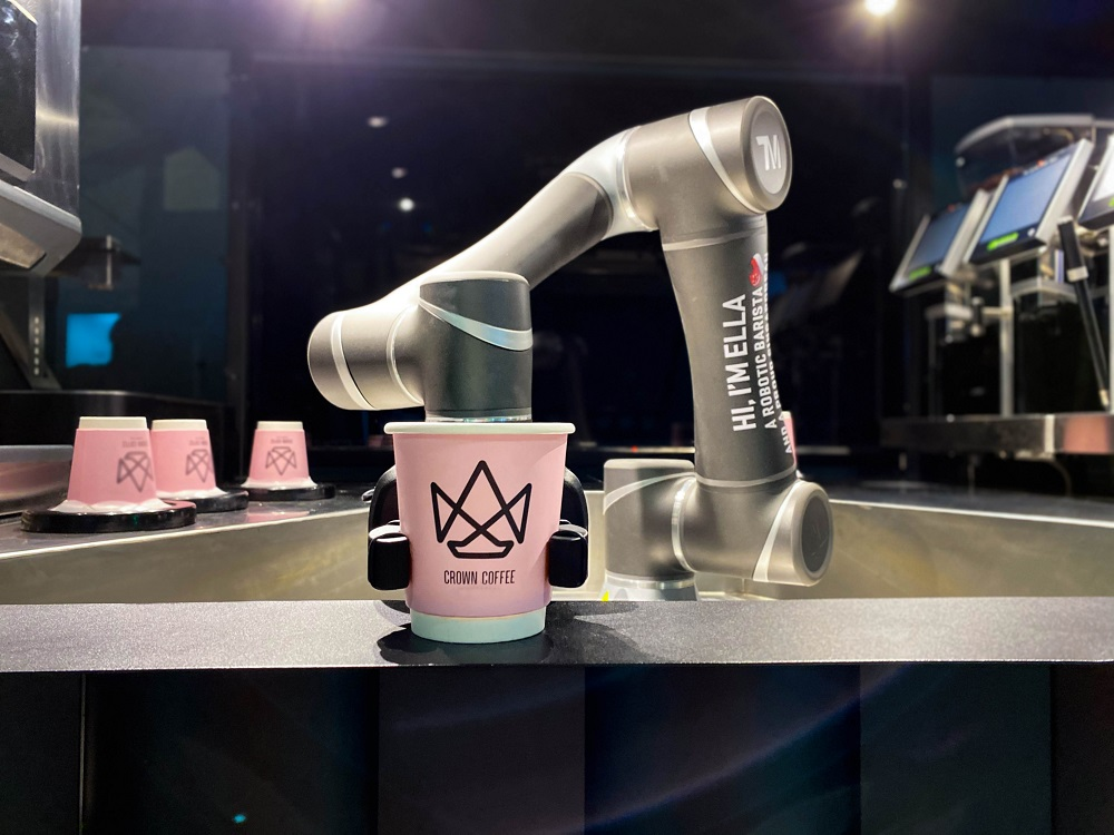 crown coffee robot barista