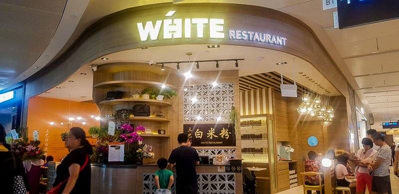 White restaurant in Jewel Changi