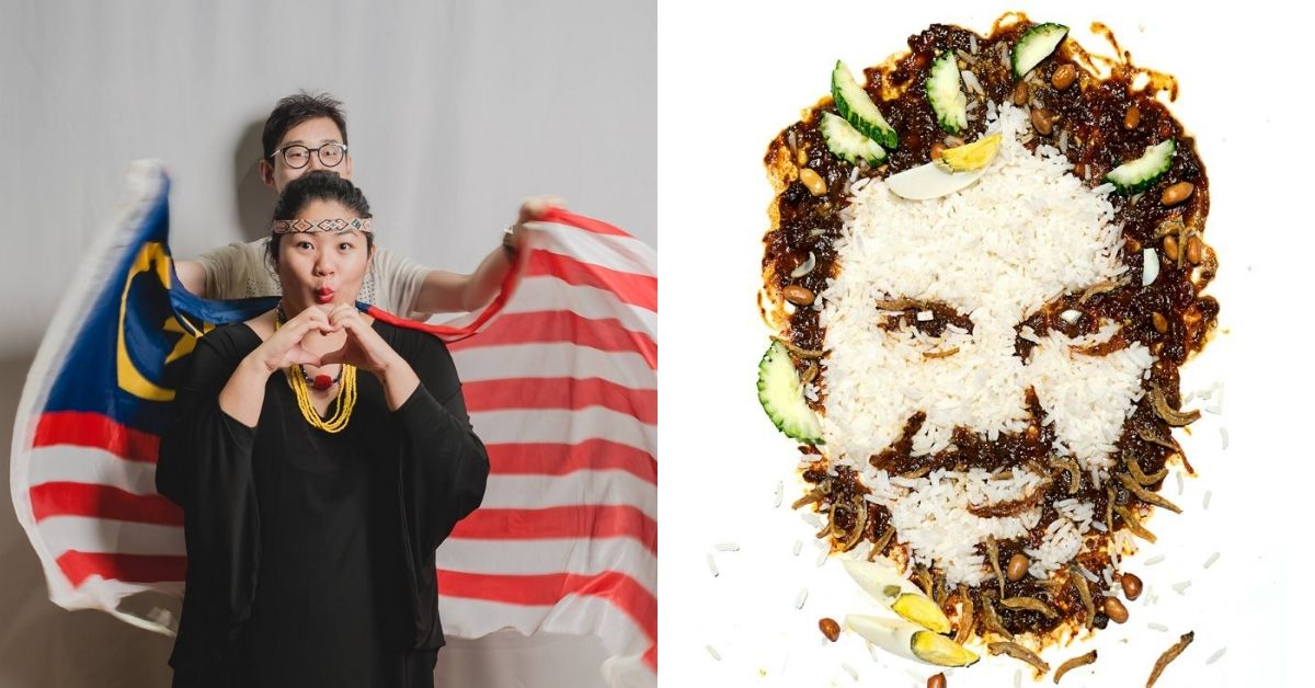We Had To Know Why These M'sians Make Portraits Of People Out Of Nasi Lemak & Other Food
