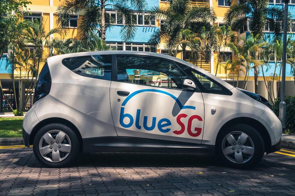 bluesg electric car singapore