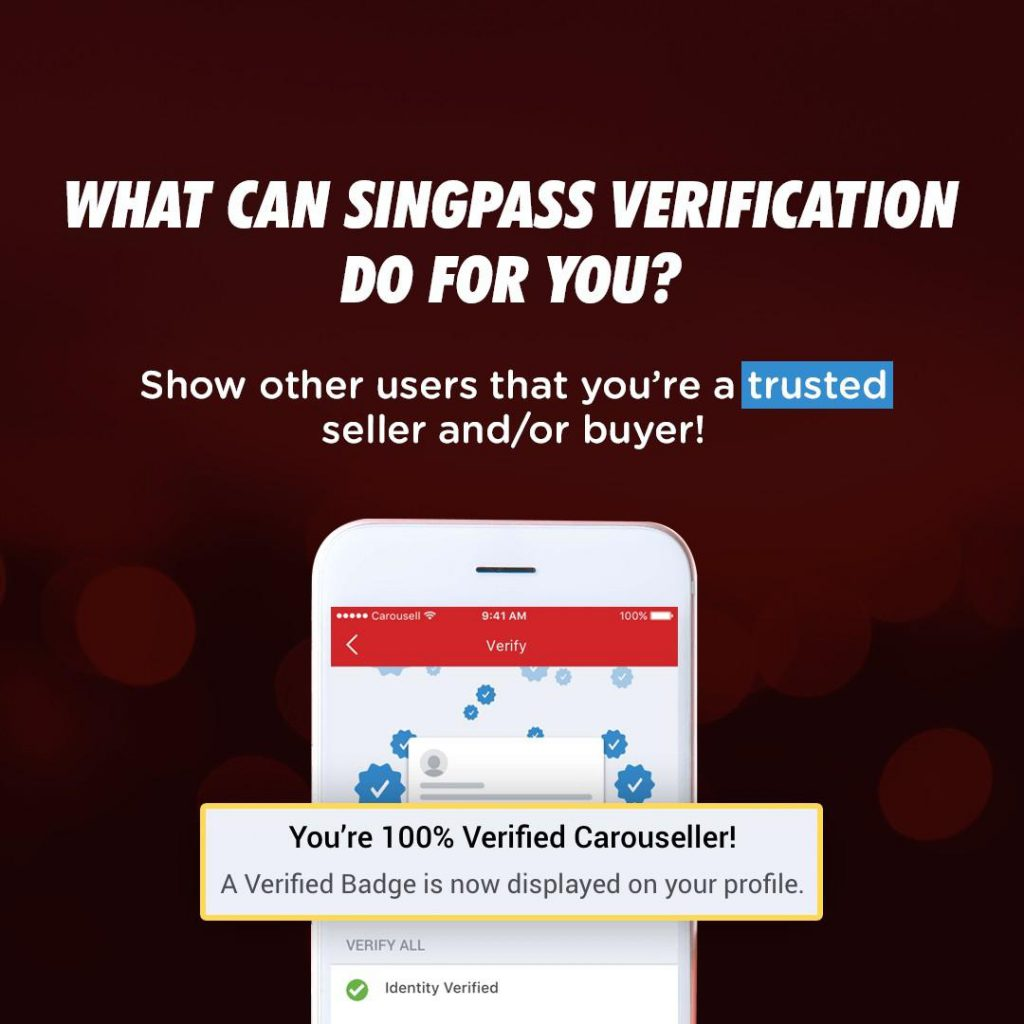 singpass verification on carousell