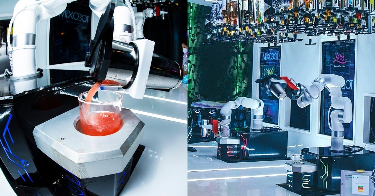 Robot bartender in LAVO restaurant and bar by Focus Dynamics