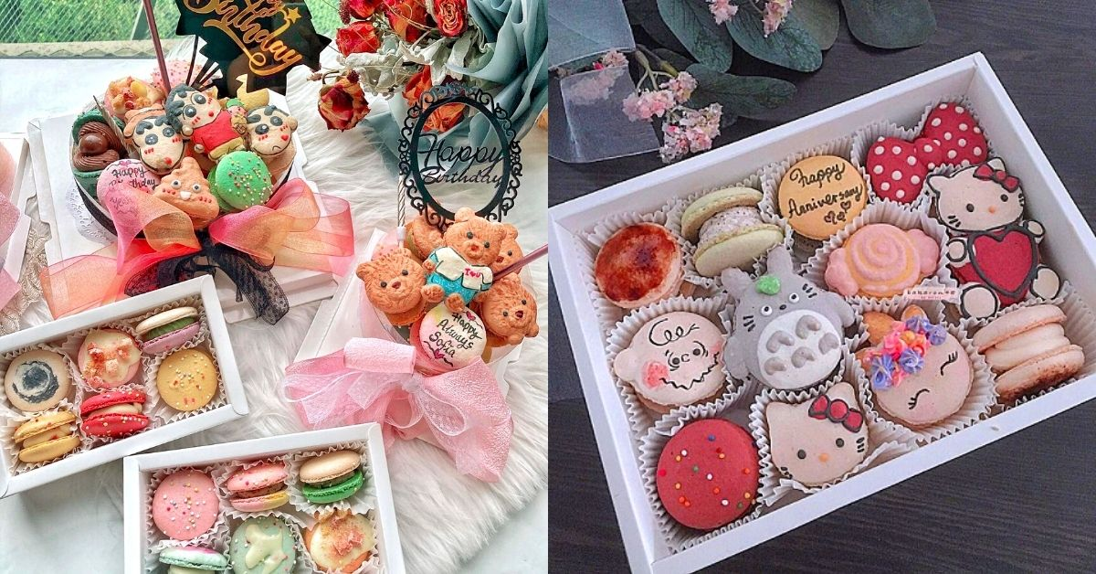 Character design macaron pastry delivery in KL