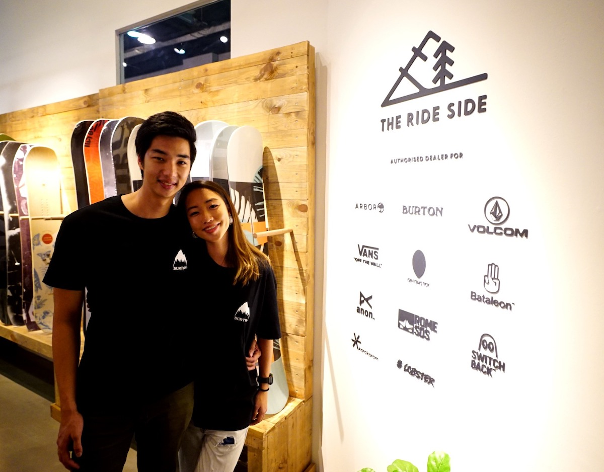 Daphne and Alex at the ride side hq