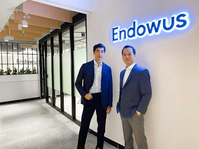 Endowus chief executive officer Gregory Van (left) and Samuel Rhee, chairman and chief investment officer